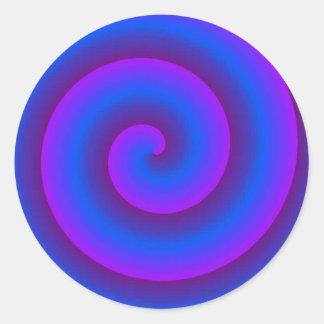 bue y púrpura pegatina redonda