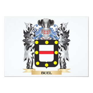 Buel Coat of Arms - Family Crest 5x7 Paper Invitation Card