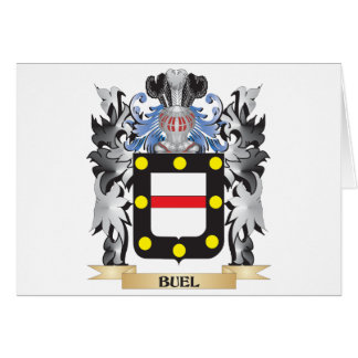 Buel Coat of Arms - Family Crest Greeting Card