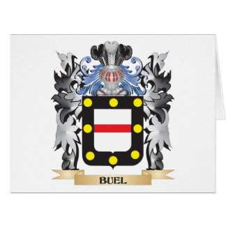 Buel Coat of Arms - Family Crest Large Greeting Card