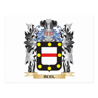 Buel Coat of Arms - Family Crest Postcard