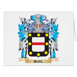 Buel Coat of Arms Large Greeting Card