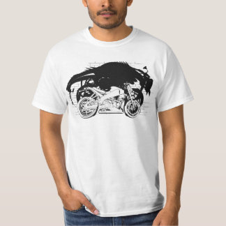 BUELL lightning graphic novel shirt