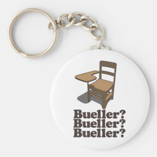 Bueller? Bueller? Bueller? Basic Round Button Keychain