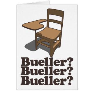 ¿Bueller? ¿Bueller? ¿Bueller? Tarjetón