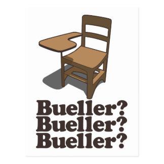 ¿Bueller? ¿Bueller? ¿Bueller? Postal