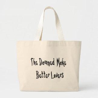 Buen amante maldecido bolsa tela grande
