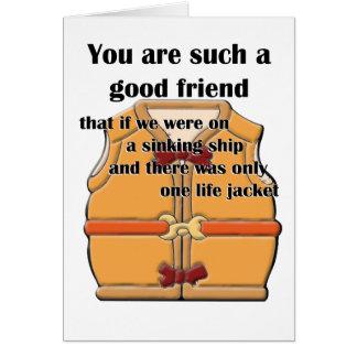 Buen amigo tarjeta