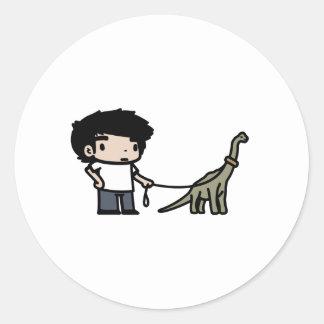 Buen Brachiosaurus Pegatina Redonda