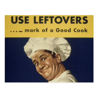 Buen cocinero - dibujo animado del vintage postal