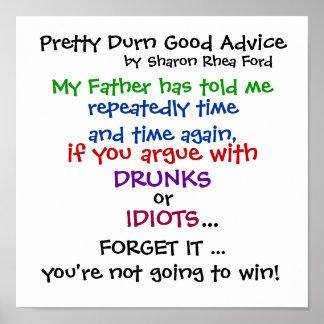 Buen consejo bonito de Durn por SRF Póster