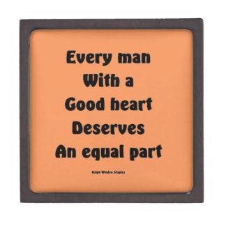 Buen corazón caja de recuerdo de calidad