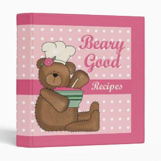 """Buen cuaderno de la receta de las recetas de Beary Carpeta 1"""""""