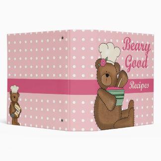 """Buen cuaderno de la receta de las recetas de Beary Carpeta 2"""""""