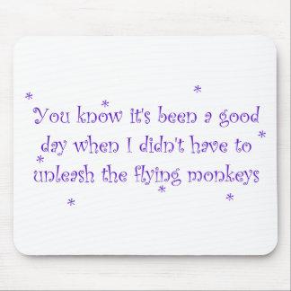 Buen día sin el cojín de ratón de los monos que vu tapetes de raton