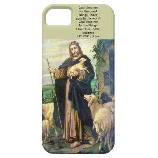 Buen dios del pastor me bendice caja del teléfono iPhone 5 funda