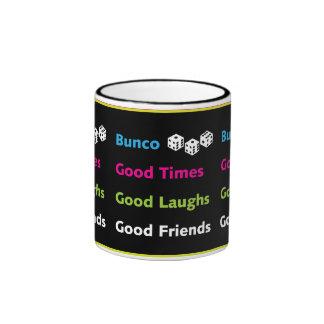 buen diseño de la taza de los amigos del bunco