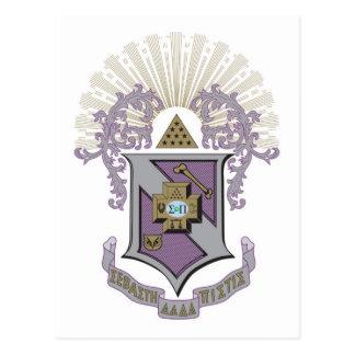 Buen escudo 4-C de la sigma pi Postales