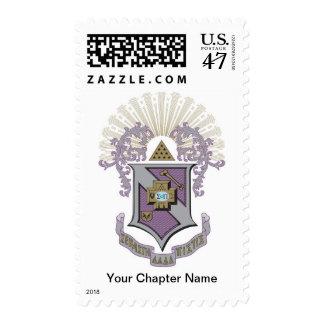 Buen escudo 4-C de la sigma pi Timbre Postal