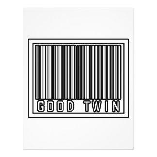 Buen gemelo del código de barras tarjetas publicitarias