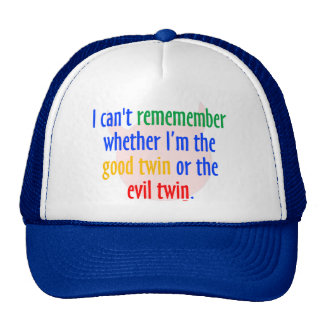 ¿buen gemelo gemelo o del mal? gorras de camionero