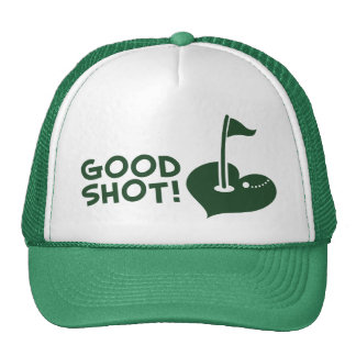 Buen golf del tiro gorros