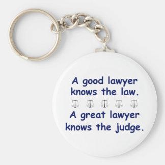 Buen/gran abogado llavero redondo tipo pin