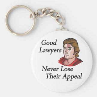 Buen hombre de los abogados llavero redondo tipo pin