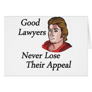 Buen hombre de los abogados tarjeta de felicitación