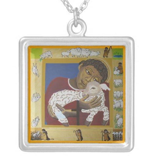 Buen icono del pastor colgante cuadrado