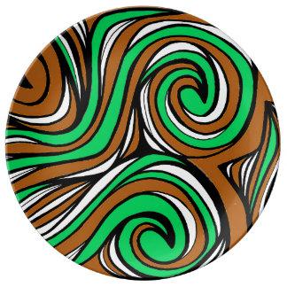 Buen interesante práctico agradable platos de cerámica