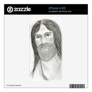 Buen Jesús iPhone 4 Calcomanía