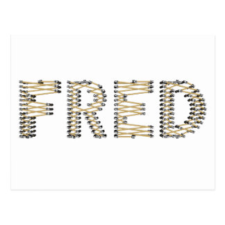 Buen logotipo de FRED Tarjeta Postal