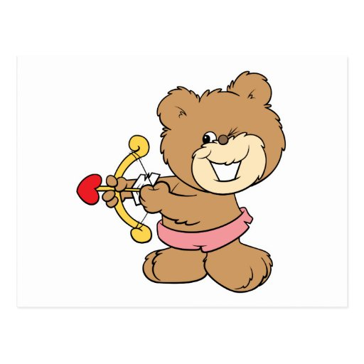 buen objetivo que guiña diseño del oso de peluche  postales