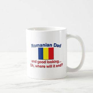 Buen papá del rumano de Lkg Taza Básica Blanca