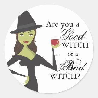 Buen pegatina de Halloween de la bruja o de la