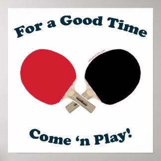 Buen ping-pong del tiempo póster