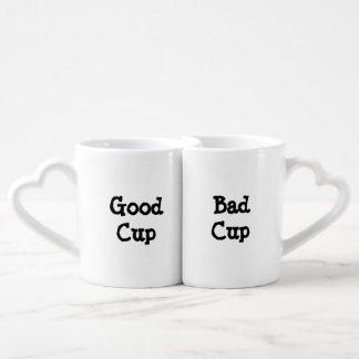 Buen poli del malo del poli de la buena taza taza para parejas
