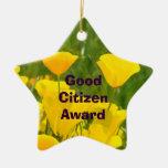 ¡Buen premio del ciudadano! el ornamento concede l Ornamentos De Navidad