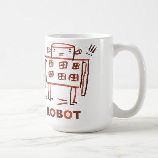 Buen robot taza básica blanca