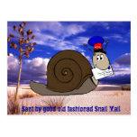 Buen snail mail pasado de moda postal