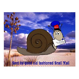 Buen snail mail pasado de moda tarjetas postales