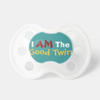Buen texto divertido gemelo gemelo/malvado del beb chupetes de bebe