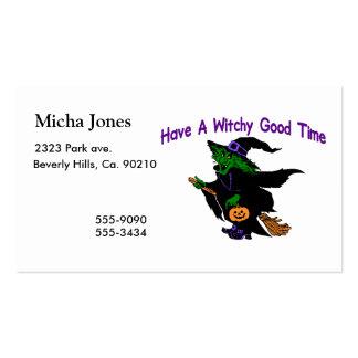 Buen tiempo Halloween de Witchy Tarjetas De Visita