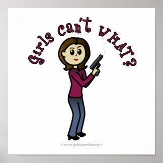 Buen tirador de sexo femenino ligero póster