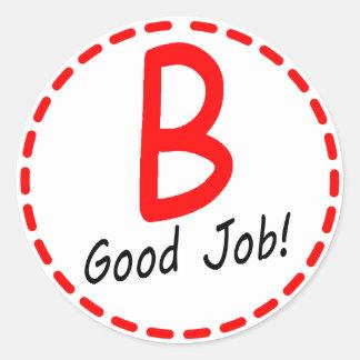 ¡Buen trabajo del grado B…! Pegatina