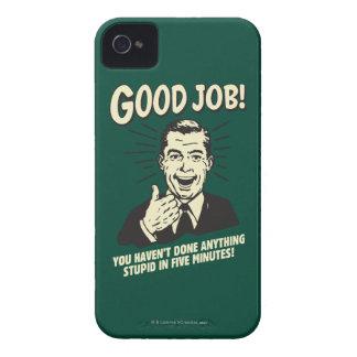 Buen trabajo: Hecho cualquier cosa 5 Min. Funda Para iPhone 4 De Case-Mate