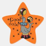 ¡Buen trabajo! Recompensa anaranjada de la Pegatinas Forma De Estrella Personalizadas