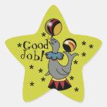 ¡Buen trabajo! Recompensa de la estrella del sello Calcomanías Forma De Estrella