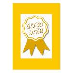 ¡Buen trabajo! Tarjeta del premio Tarjetas De Negocios